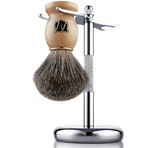 Miusco Natural Badger Hair Shaving Brush and Stand...