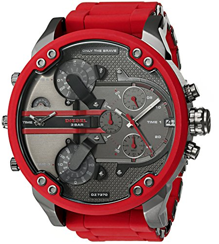 Diesel Mens Mr. Daddy 2.0 Multi-movement Red...