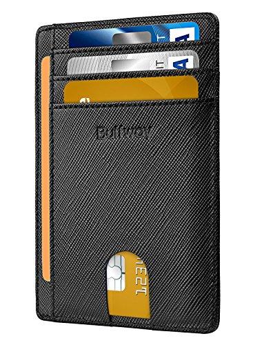 Slim Minimalist Leather Wallets for Men & Women -...