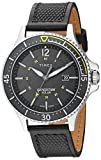 Timex Men's TW4B14900 Expedition Ranger Solar Black/Yellow Accent Leather Strap Watch