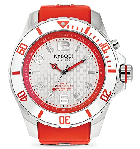 KYBOE! Quartz Stainless Steel and Silicone Watch...