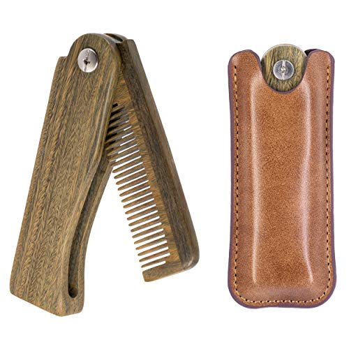 Onedor Sandalwood Fine Tooth Folding Brush Comb...