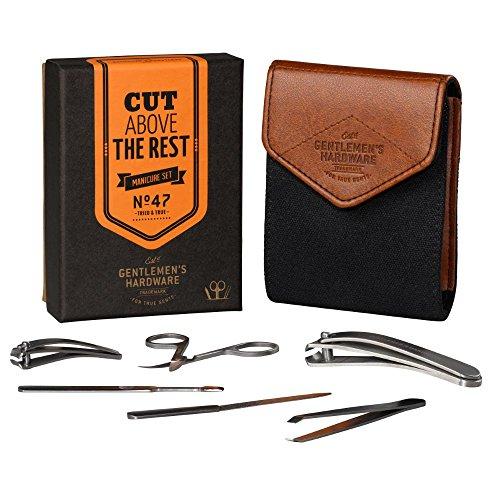 Gentlemen's Hardware 7-Piece Men's Manicure Kit...