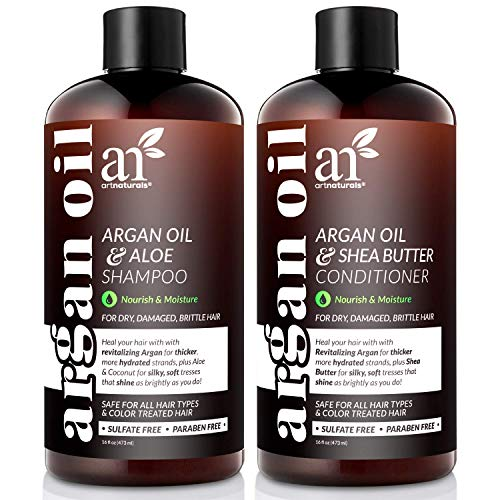 Artnaturals Organic Moroccan Argan Oil Shampoo and...