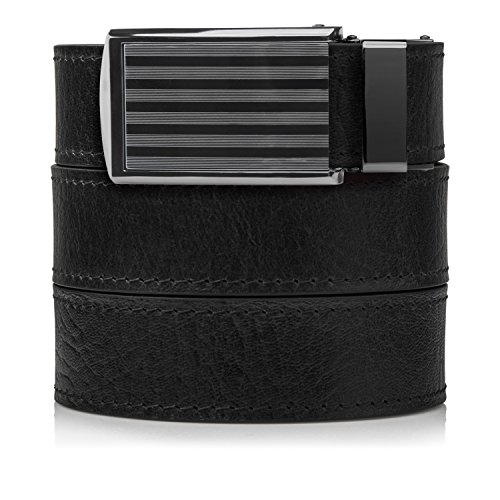 SlideBelts Top Grain Leather Ratchet Belt (Walnut...