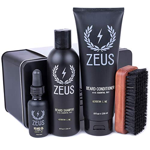ZEUS Deluxe Beard Grooming Kit for Men - Beard...