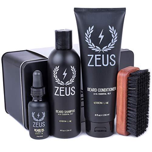 ZEUS Deluxe Beard Grooming Kit for Men - Beard...