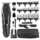 Wahl Aqua Blade Rechargeable Wet Dry Lithium Ion Deluxe Trimming Kit with 4 Interchangeable Heads for Shaving, Detailing, Grooming Beards, Mustaches, Stubble, Ear, Nose, Body – Model 9899-100