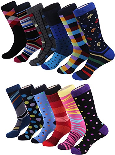 Marino Men's Dress Socks - Colorful Funky Socks...
