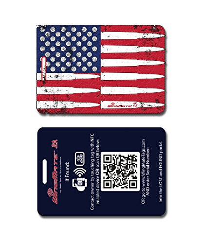 2nd Amendment NFC Smart Travel Luggage Tag with...