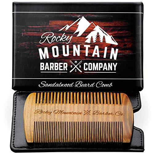 Beard Comb - Natural Sandal Wood for Hair with a...