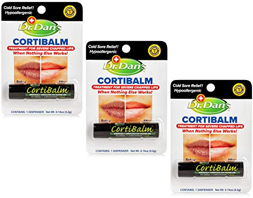 Dr. Dan's Cortibalm -3 Pack -for Dry Cracked Lips...