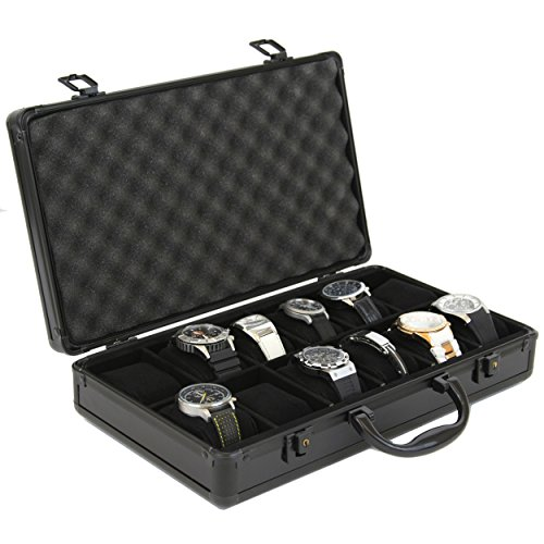 Watch Storage Case Aluminum Metal Briefcase for 12...