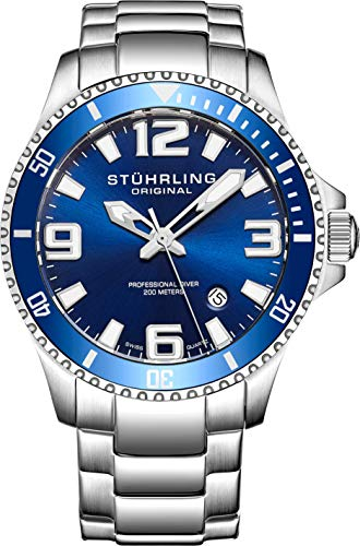 Stuhrling Original Mens Swiss Quartz Stainless...