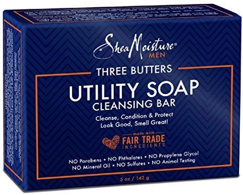 Shea Moisture Mens Utility Soap 5 Ounces (3 Pack)
