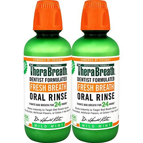 TheraBreath Fresh Breath Oral Rinse, Mild Mint,...