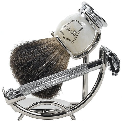 Parker 29L Safety Razor Shave Set - Includes Black...