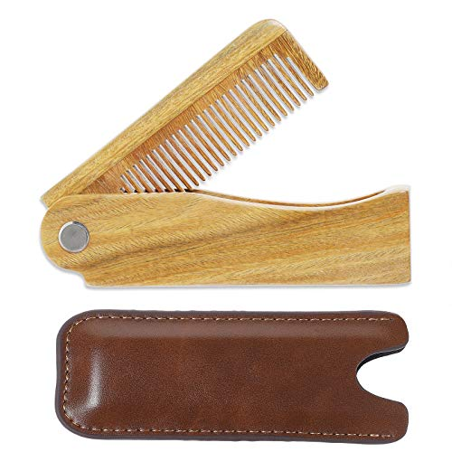 Onedor Sandalwood Fine Tooth Folding Brush Comb...