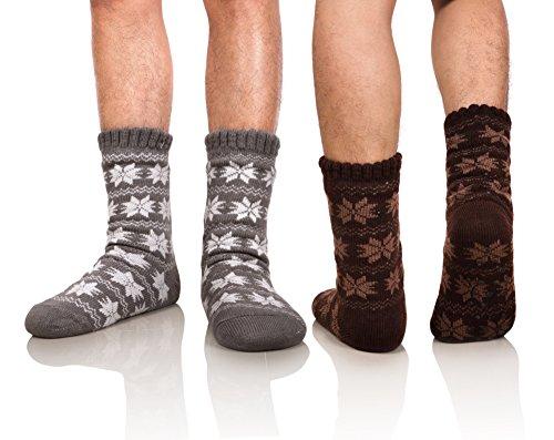 DoSmart Men's Winter Thermal Fleece Lining Knit...