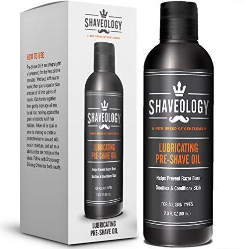 SHAVEOLOGY Natural Pre Shave Oil for Men – 2...