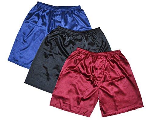 Tony & Candice Men's Satin Boxers Shorts Combo...