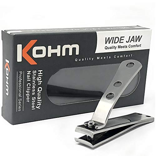 Kohm CP-140L Nail Clippers for Thick Nails, Wide...