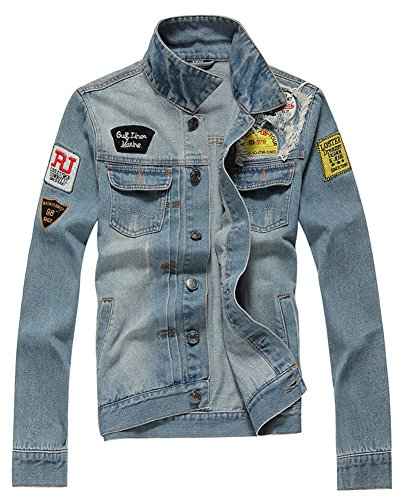 AvaCostume Men's Classic Lightweigth Jean Jacket...