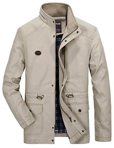 Vcansion Men's Cotton Lightweight Front Zip Hoodie...