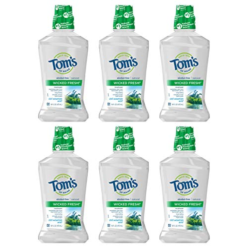 Tom's of Maine Wicked Fresh! Mouthwash, Natural...