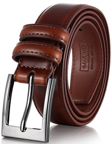 Mio marino's Men Genuine Leather Dress Belt with...