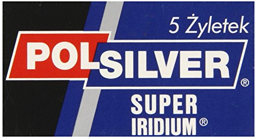 Polsilver Super Iridium Double Edge Razor Blades 5...