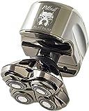 Skull Shaver Pitbull Platinum PRO Electric Razor - Wet/Dry 4 Head 4d Cordless USB Rechargeable Rotary Shaver