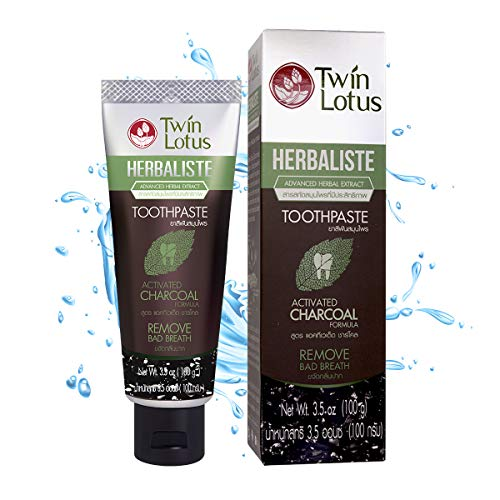 TWIN LOTUS Charcoal Toothpaste Free Sls Free...