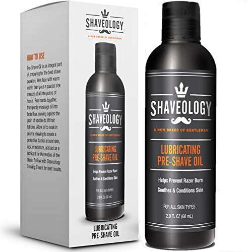 Natural Pre Shave Oil for Men – 2 Full OZ -...