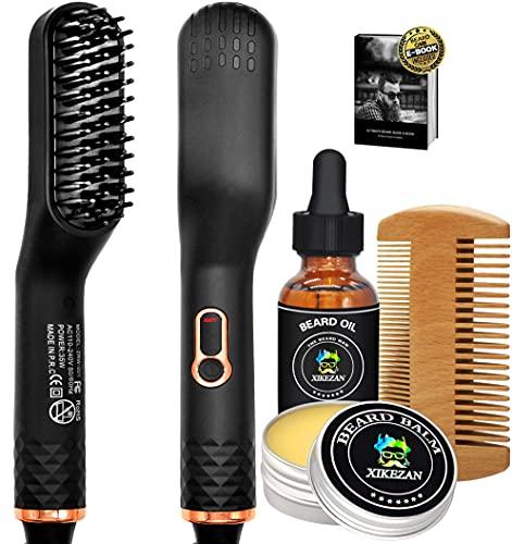 Beard Straightener w/Beard Balm & Beard Growth Oil...