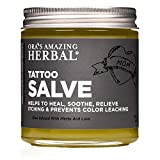 Tattoo Salve, Tattoo Aftercare, Tattoo Lotion, Tattoo Care, Tattoo Balm, No Paraben Lanolin or Dye, Natural Tattoo Care Ointment, Tattoo Lotion Aftercare, Made in The USA, Ora's Amazing Herbal