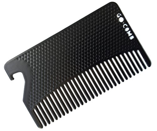Go Comb - Metal Mens Wallet Size Comb + Bottle...