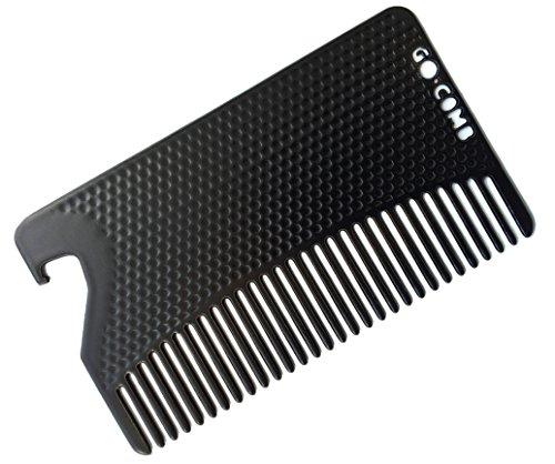 Go Comb - Metal Mens Wallet Size Comb + Bottle...