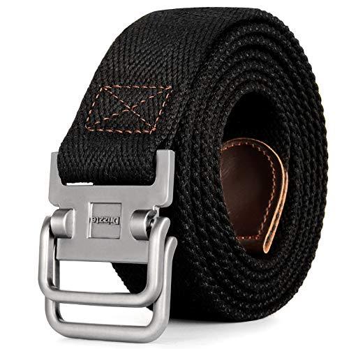 Drizzte 43'' Long Belt Double D Ring Mens Canvas...