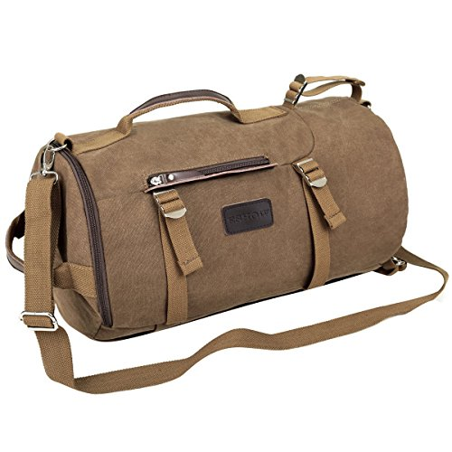 Eshow Men's Canvas Backpack Shoulder Handbag Retro...