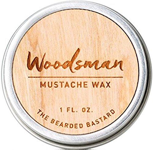 Woodsman Mustache Wax  1 Ounce Tin of Strong All...