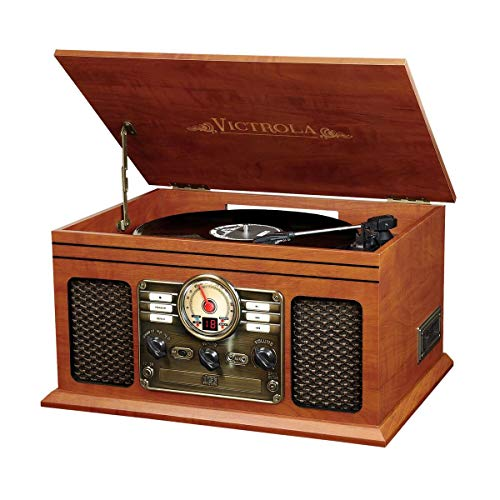 Victrola Nostalgic Classic Wood 6-in-1 Bluetooth...