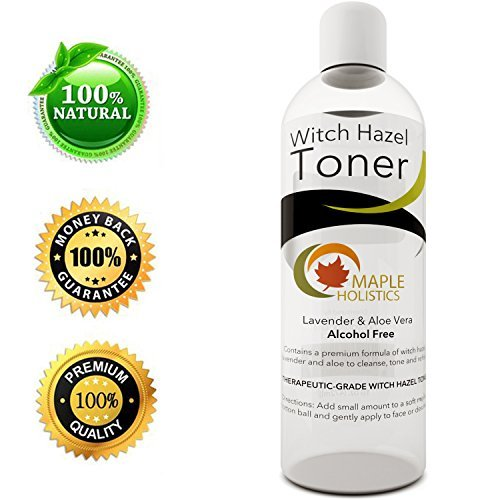 Pure Witch Hazel Toner for Face and Body Alcohol...