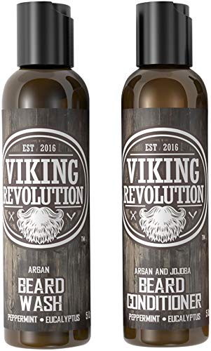 Viking Revolution Beard Wash & Beard Conditioner...