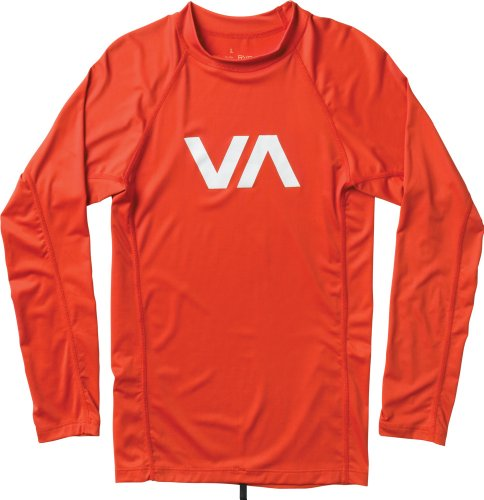 RVCA Men's VA Rash Guard, Lava, Medium