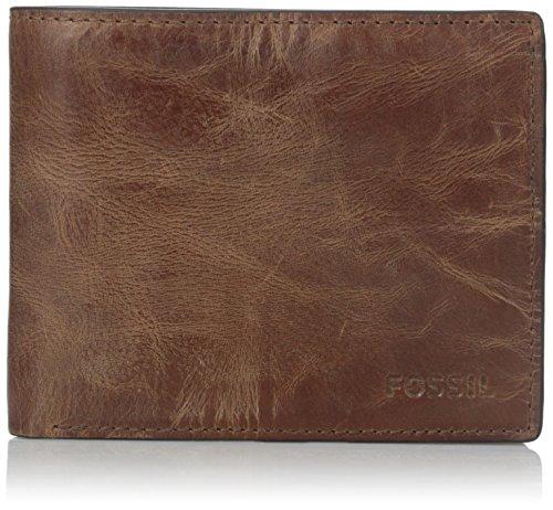Fossil Men's RFID Flip ID Bifold Wallet, Brown,...