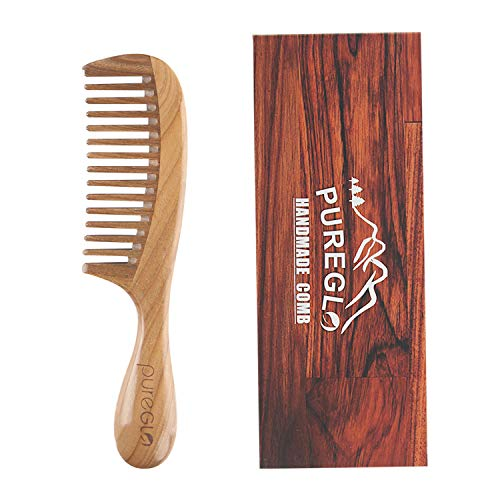 pureGLO Green Sandalwood Hair Comb [Gift Box] - No...