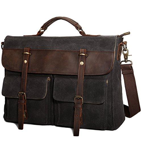 Tocode Large Messenger Bag for Men, Vintage Waxed...