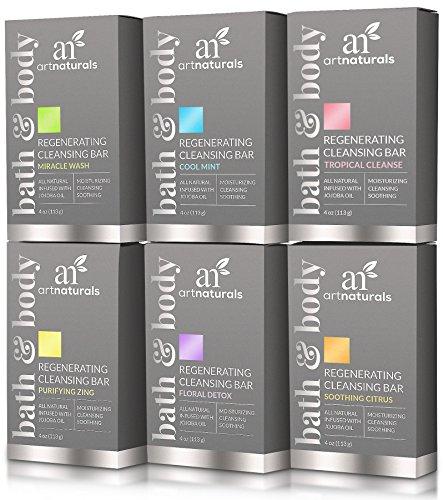 ArtNaturals Natural Soap Bar Gift Set - (6 x 4 Oz...