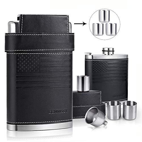 GENNISSY 304 18/8 Stainless Steel 8oz Flask -...
